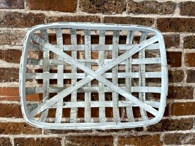 White Tobacco Basket