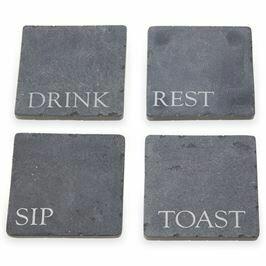 Slate Coaster Set