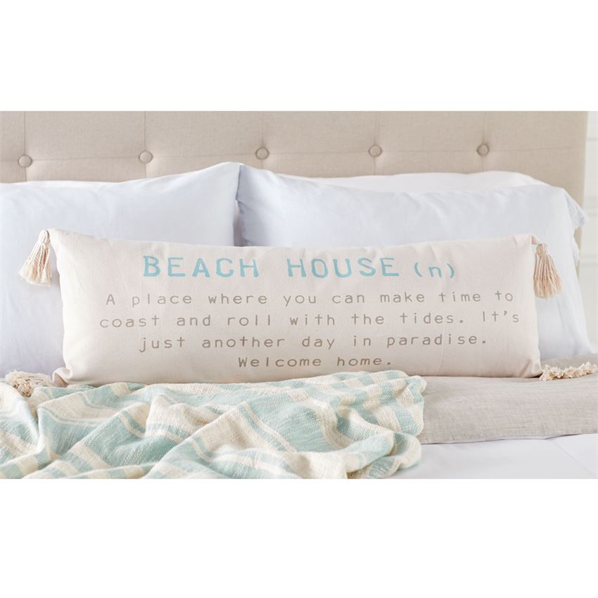 Beach House Tassel Pillow