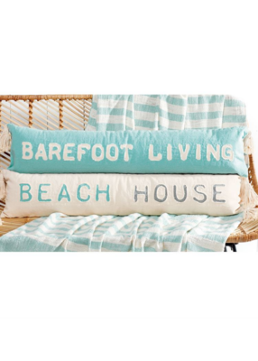 Barefoot/Beach House Pillow