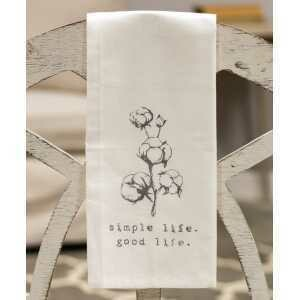 Simple Life Tea Towel