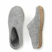 GLERUPS - GREY SLIP-ON LEATHER SOLE