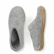 GLERUPS - GREY SLIP-ON LEATHER SOLE