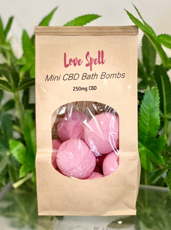Mini Bath Bombs - Love Spell 250mg