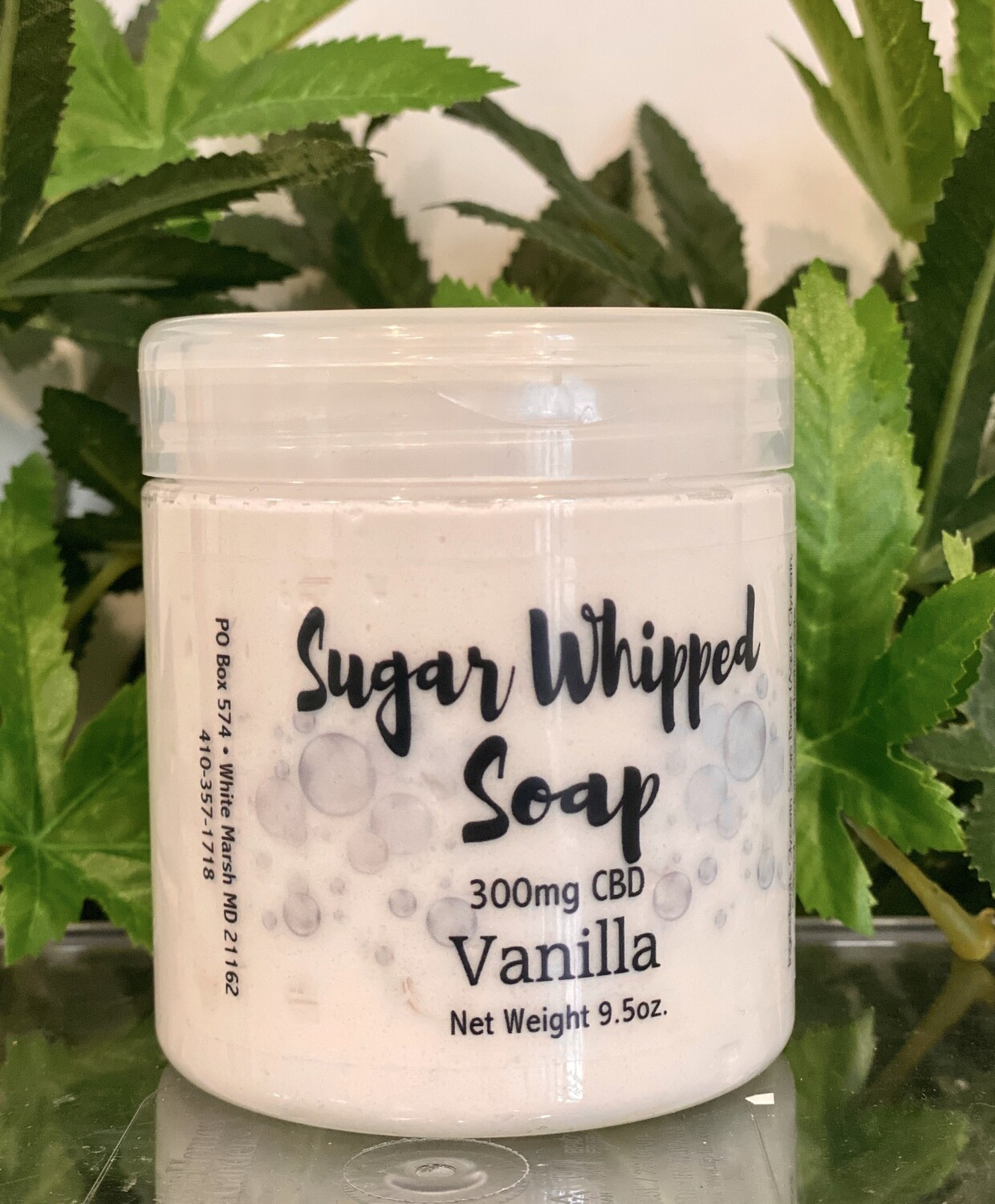 Sugar Whipped Soap - Vanilla 300mg