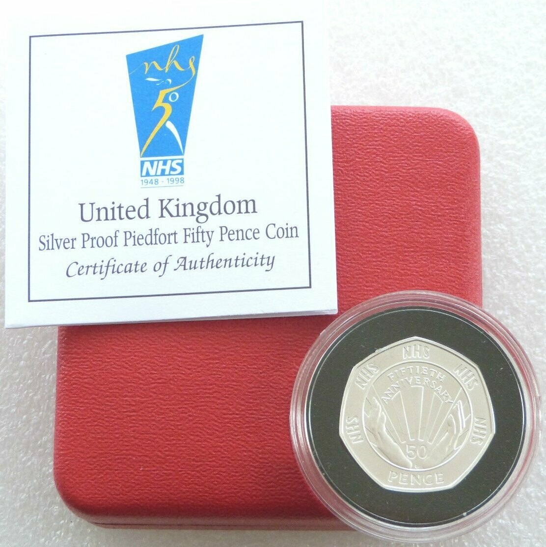 1998 50p coin nhs