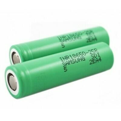 Samsung INR18650 25R 2500mAh 30A Battery