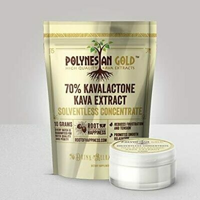 Root of Happiness Polynesian Gold 10g Jar - 70% CO2 Extract