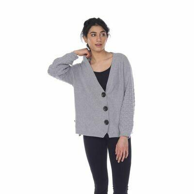 Flower Cardigan Sporty Grey
