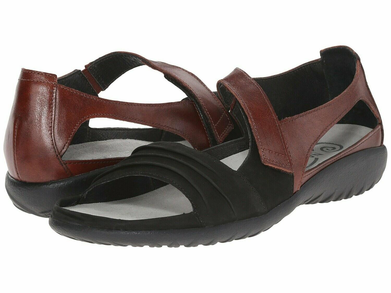 Papaki Black and Cinnamon Naot Sandal