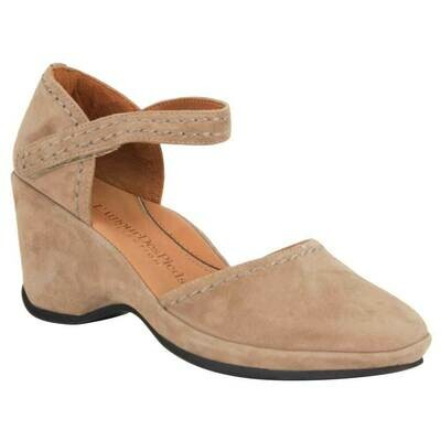 Orva Wedge Heel in Taupe Suede