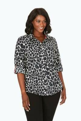 190164 Plus Zoey LS Giraffe Shirt