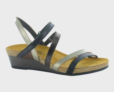 Hero Black/Pewter/Soft Walnut Sandal