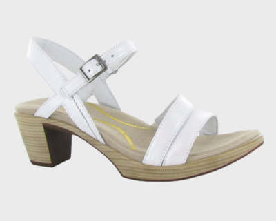 Bounty White Pearl Leather Sandal