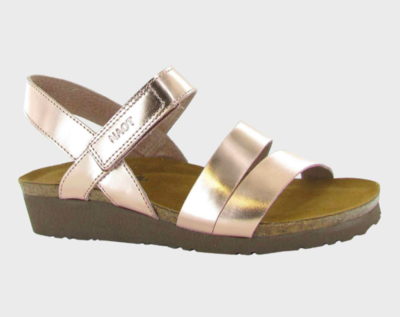 Kayla Rose Gold Leather Sandal