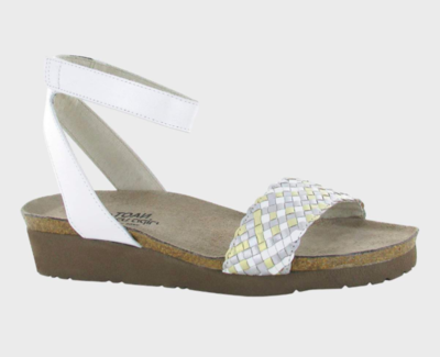 Abbie White Pearl Metallic Sandal