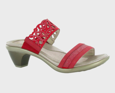 Contempo Brick Red and Bronze Sandal