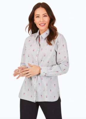190210 Simone Pineapple Clip Stripe Shirt