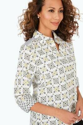 190218 Britten Wrinkle-Free Decorative Tiles Shirt