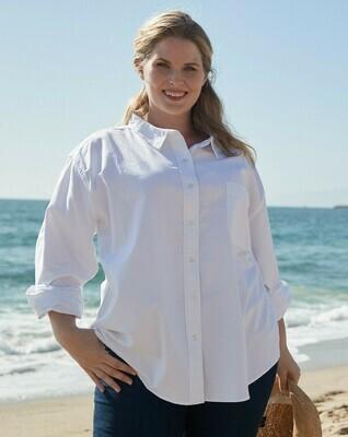 ELSOXPD Plus Oxford Shirt White