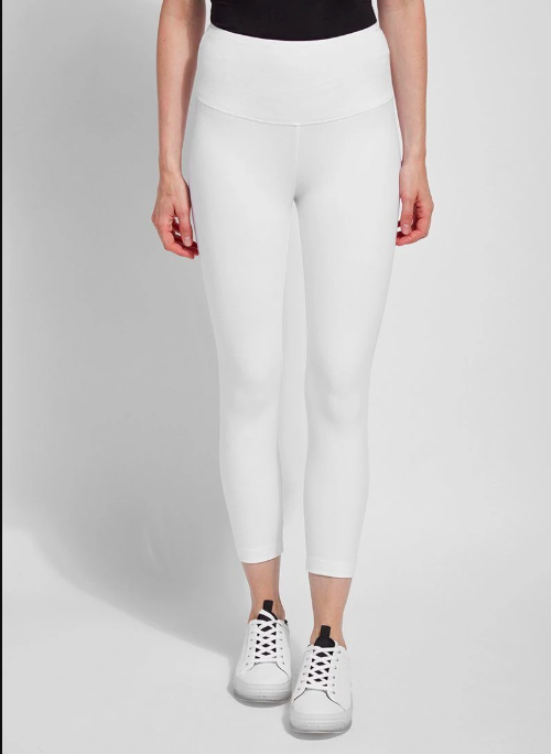 122281 Flattering Cotton Crop Legging White