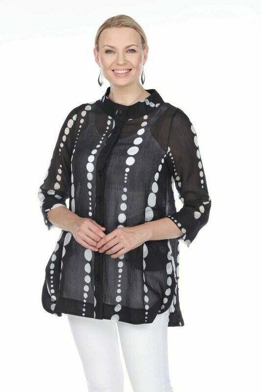 T4325 Sheer Dot Jacket