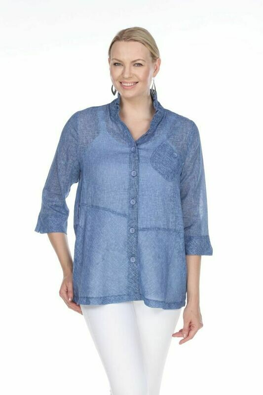 T4319 Blue Blouse