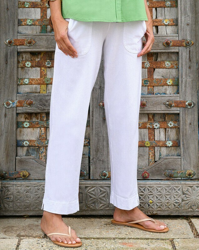 APNFTKL Key Largo Ankle Pant in White