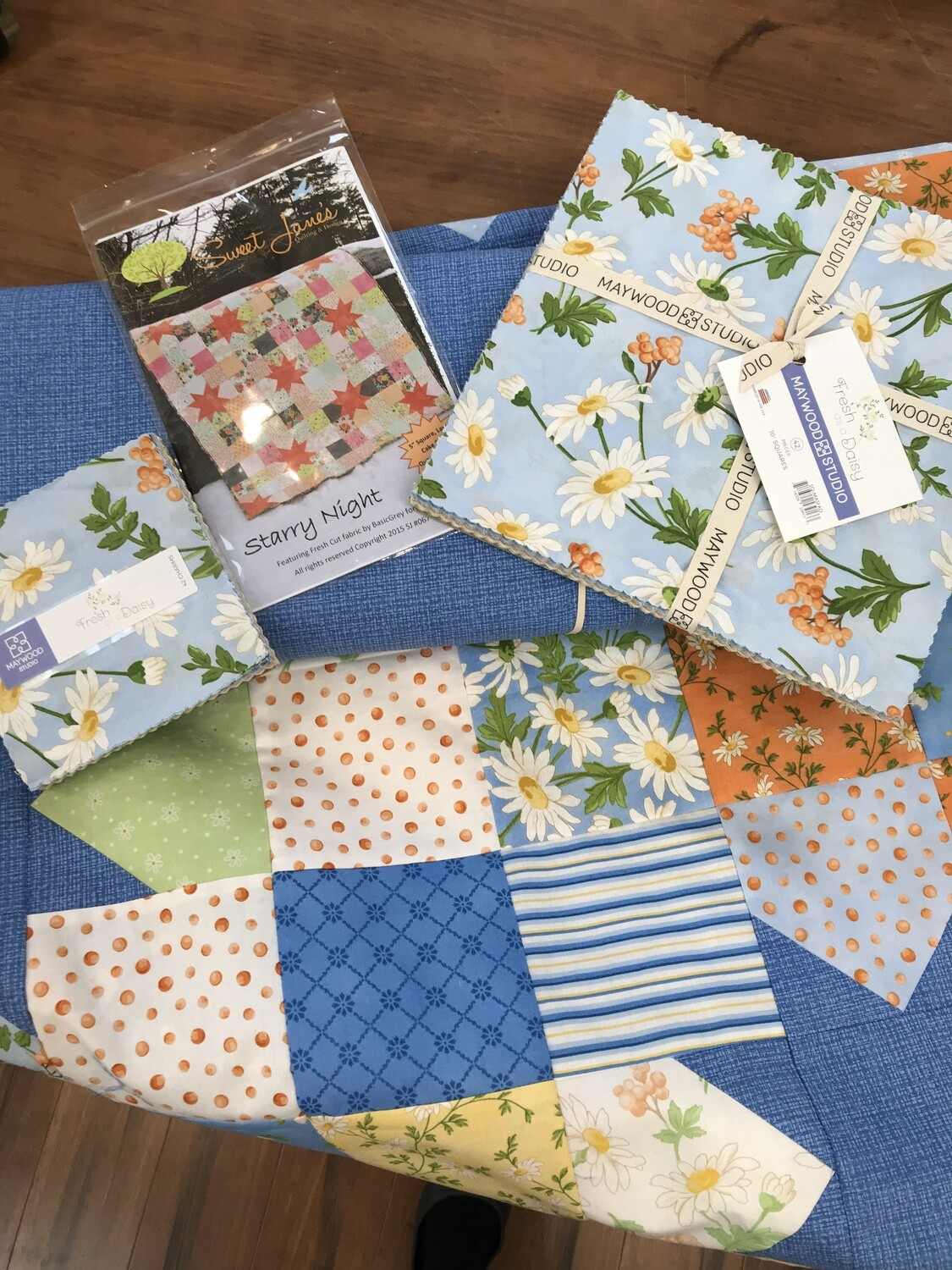 Starry Night Baby Quilt Kit