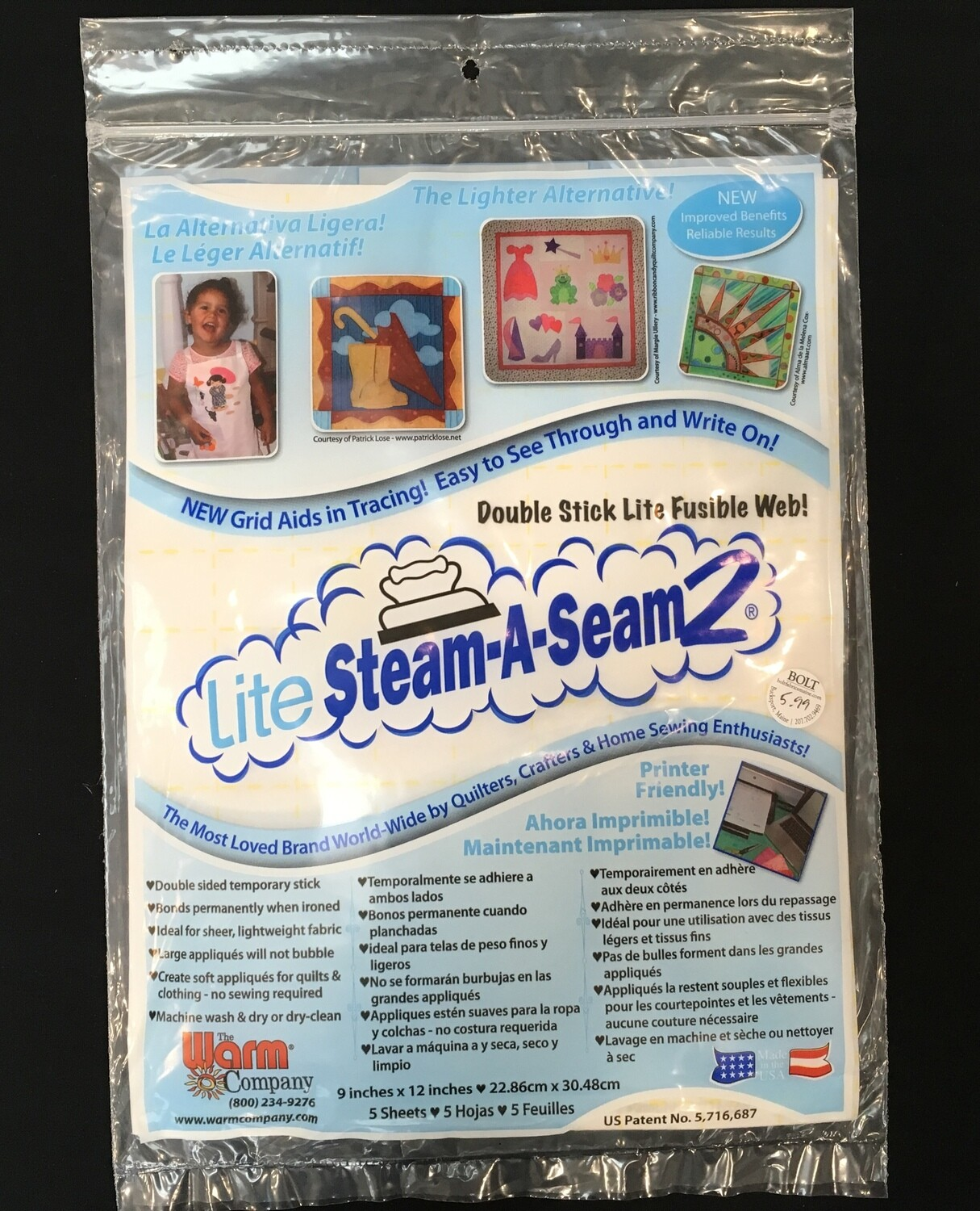 Steam a Seam lite 9x12