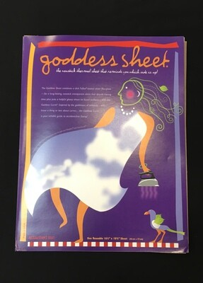 Goddess sheet 16 1/2x 10 3/4