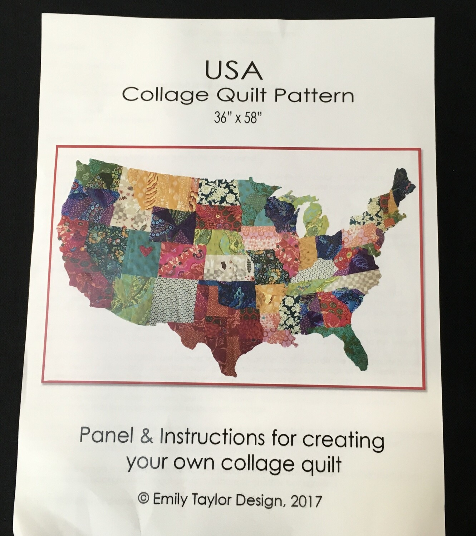 USA Collage pattern
