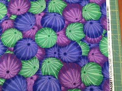 Kaffe Sea Urchins blue1/2 yd