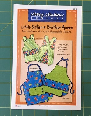 Little Sister Little Brother Apron Pattern