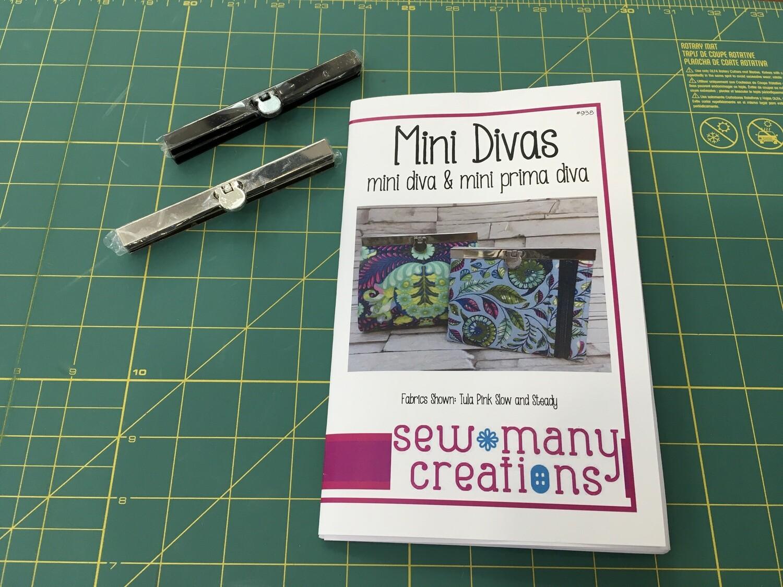 Mini diva wallet frame gunmetal