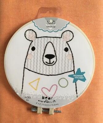 Bear Embroidery Kit