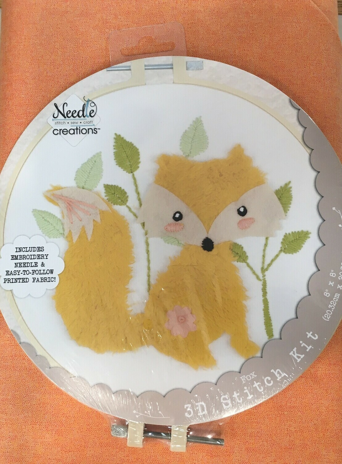 Embroidery Kit 3D Fox