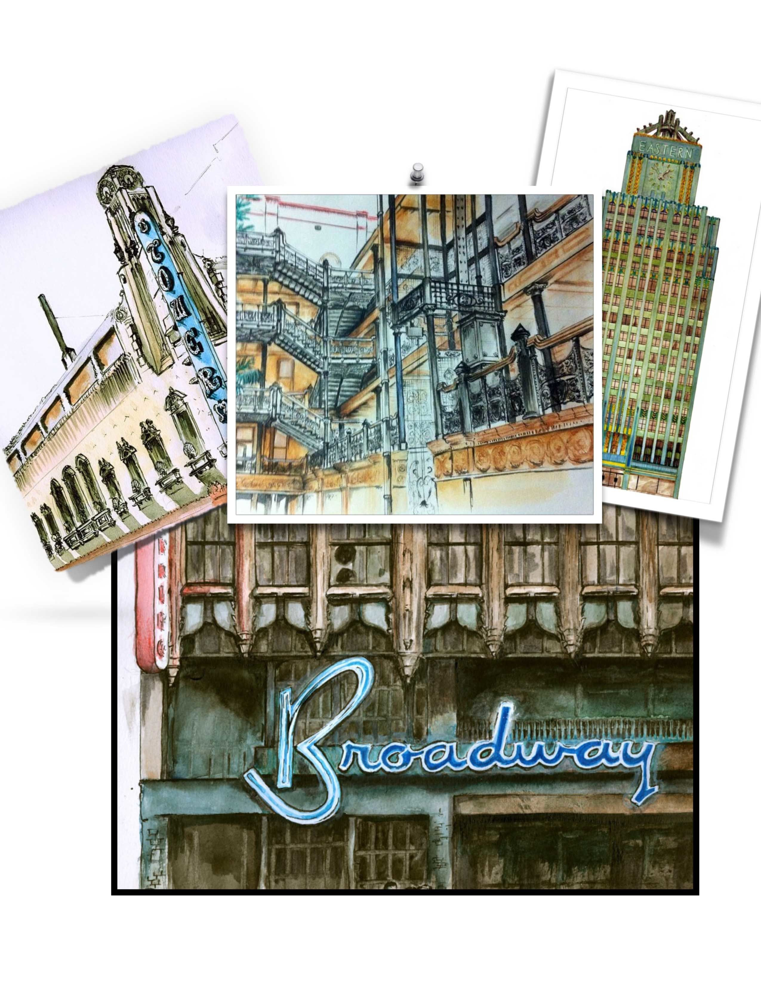 New Book - Illustrated tour of Broadway in downtown Los Angeles 00002