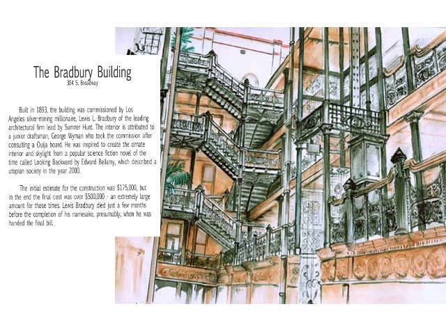 Illustrated tour of Broadway in downtown Los Angeles