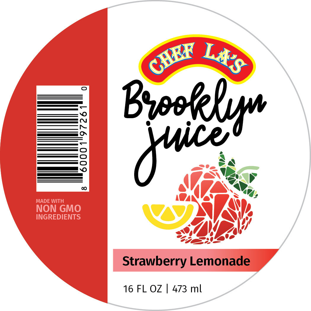 Chef La's Brooklyn Juice Strawberry Lemonade - 16oz