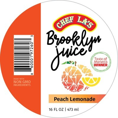 Chef La's Brooklyn Juice Peach Lemonade - 16oz