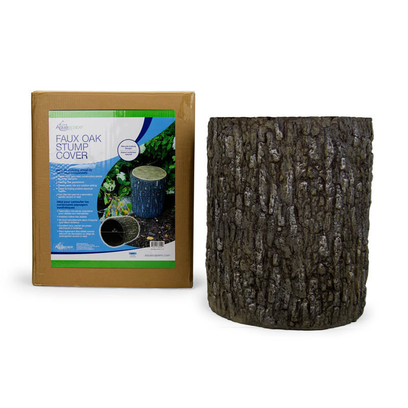 Faux Oak Stump Cover by Aquascape | Pond Products Canada ...