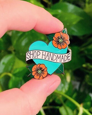 Enamel Pin, Shop Handmade