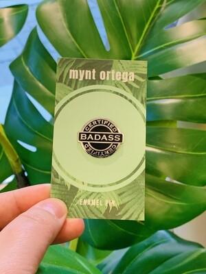 Enamel Pin, Certified Badass