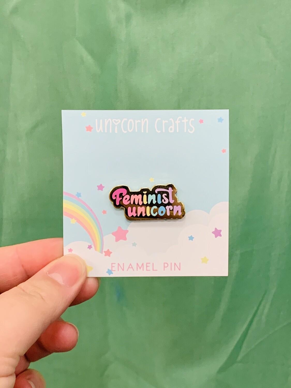 Feminist Unicorn - Rainbow - Enamel Pin