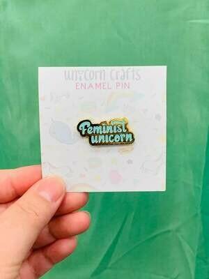 Feminist Unicorn - Glitter - Enamel Pin