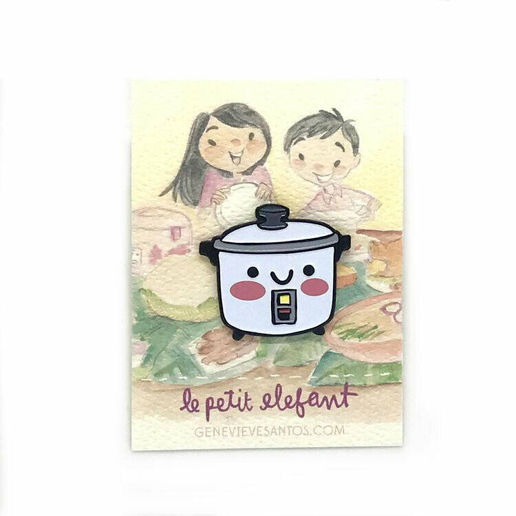 Rice Cooker Enamel Pin