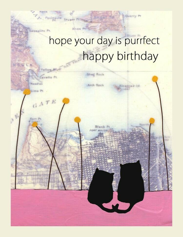 Purrfect Birthday Notecard - II