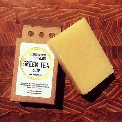 Green Tea Beer Soap