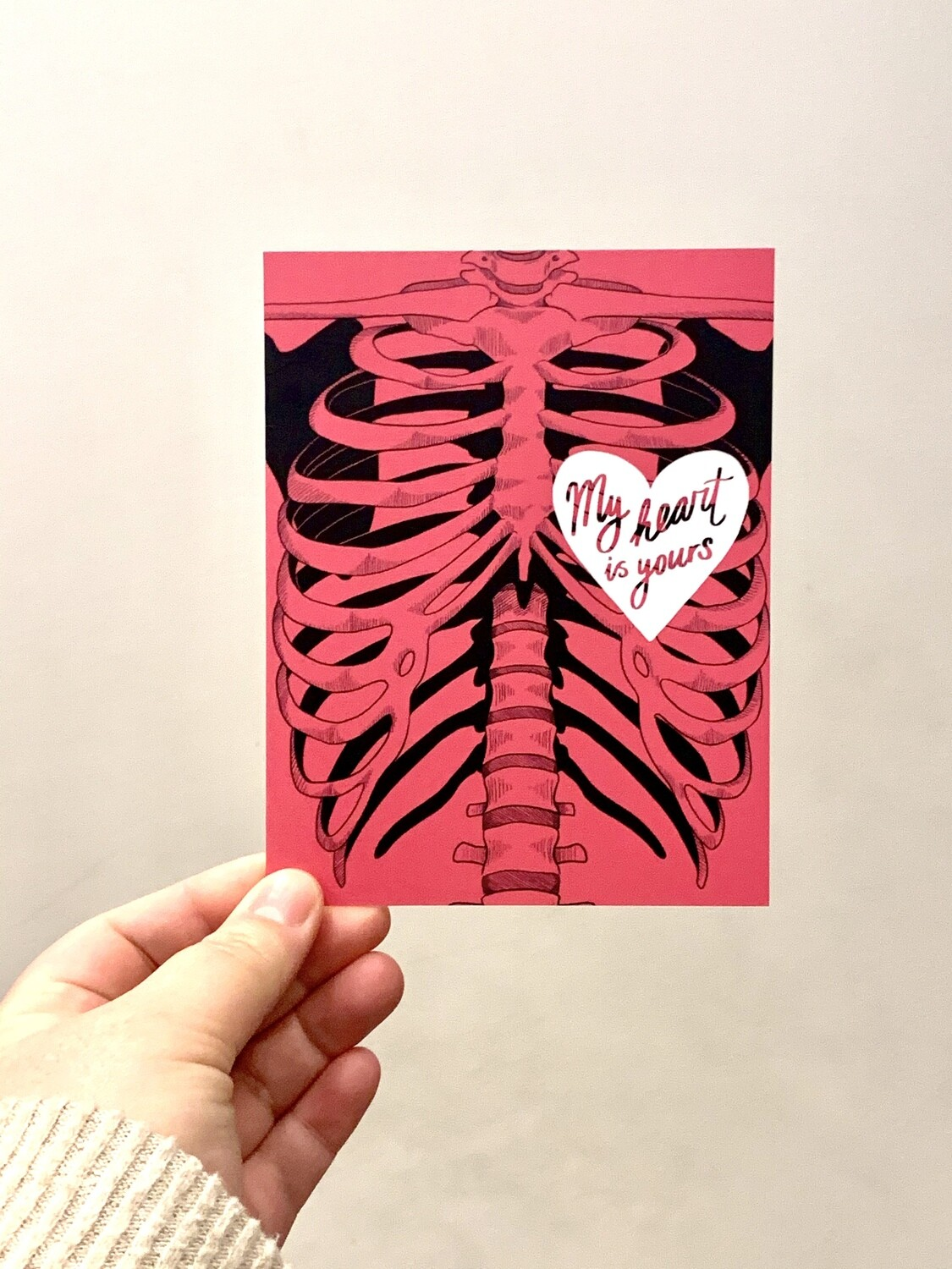 Card, Anatomical Love (Pink)